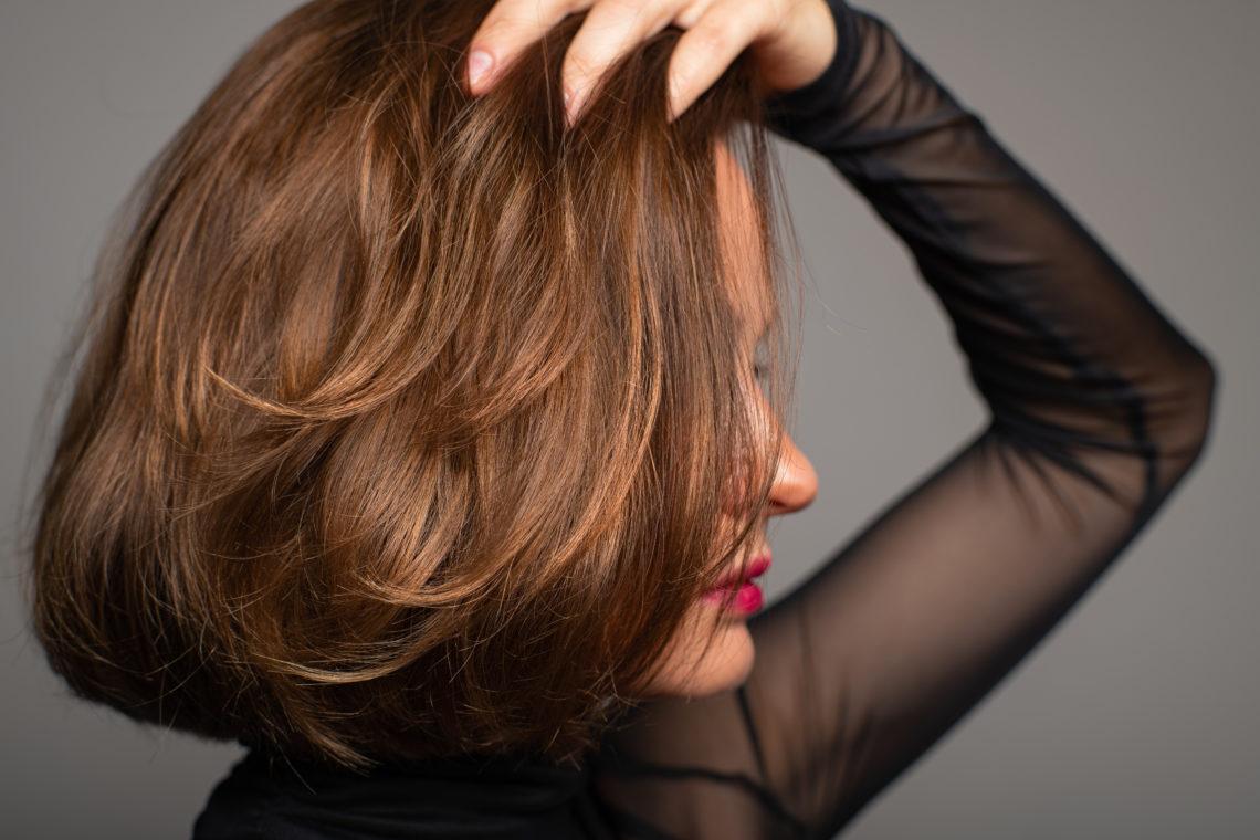 shiny hair. Beautiful woman