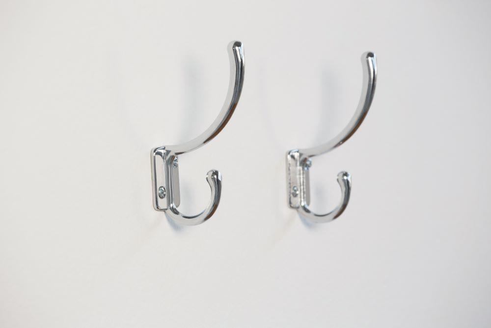 Hooks behind door